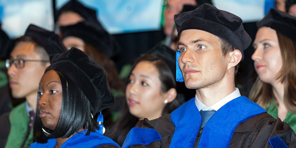 Mayo Clinic students at commencement ceremony
