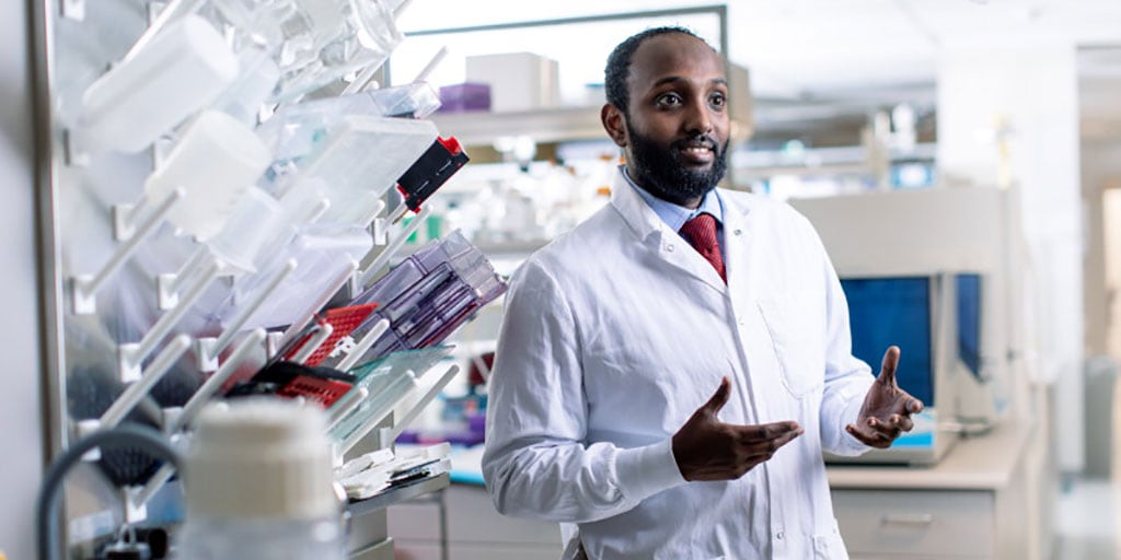 Losing family members to liver disease motivated Essa Mohamed to get a Ph.D.