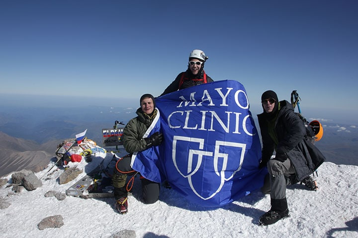 Trio of medical students use selective week to make trek to Europe's tallest summit