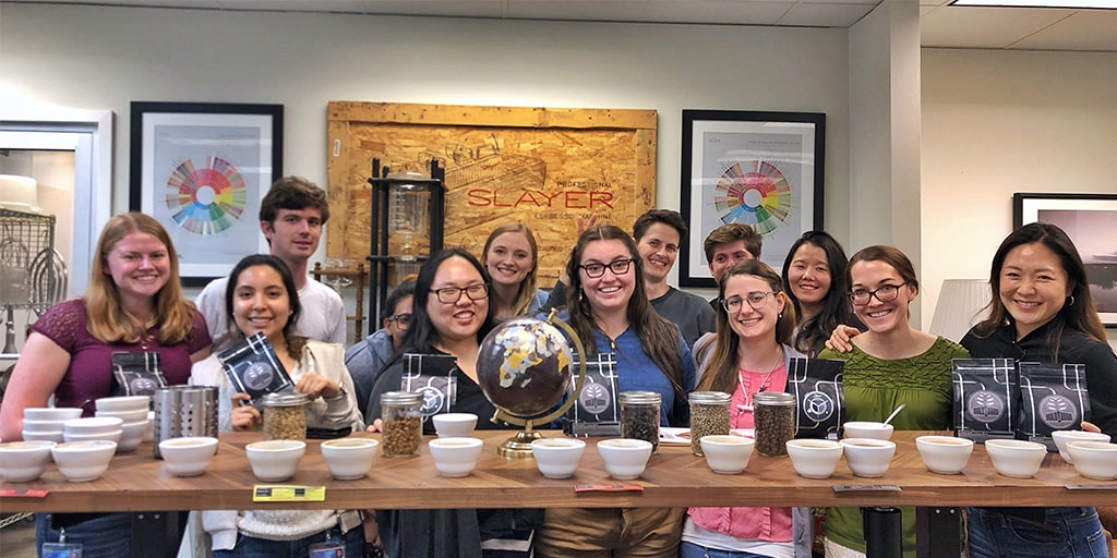 Mayo Clinic graduate school students attend a coffee tasting