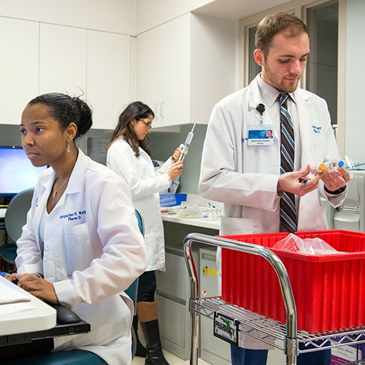 Mayo Clinic pharmacists preparing prescriptions
