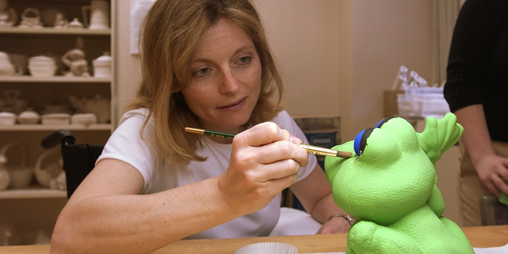 Patient works on a recreational therapy project at Mayo Clinic in Phoenix, Arizona.