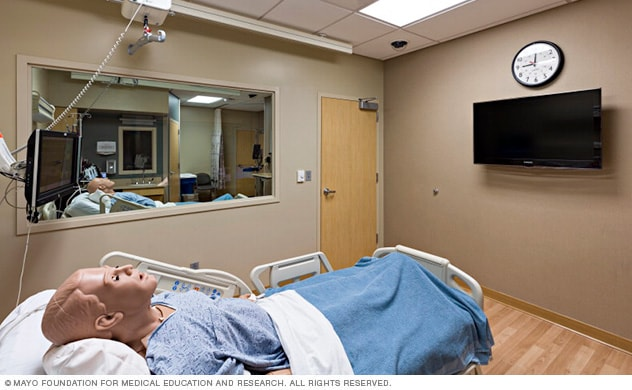 Medical-surgical training room in the Mayo Clinic Multidisciplinary Simulation Center in Arizona