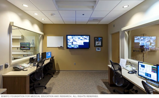 Control room in the Mayo Clinic Multidisciplinary Simulation Center in Arizona