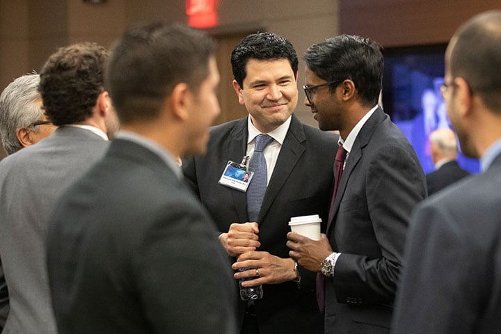 Mayo Clinic students and trainees at a social event