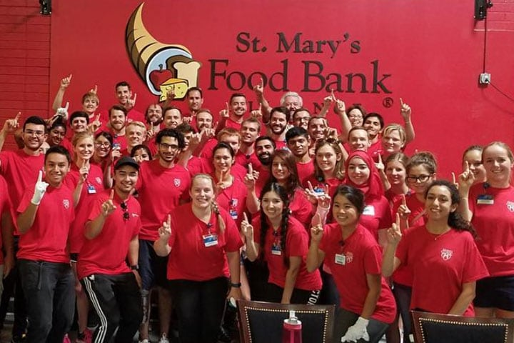 Mayo Clinic students volunteering at St. Mary's Food Bank in Phoenix